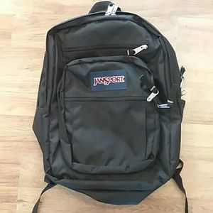 Jansport black backpack for school work college